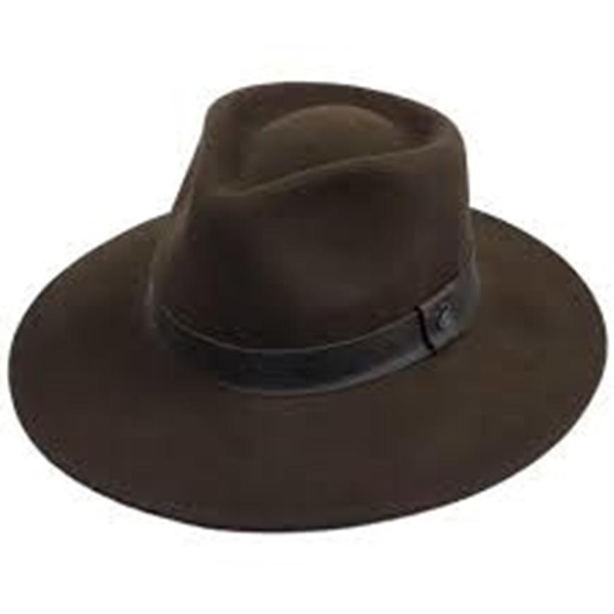Picture of Wide Brim Wool Hat - Dark Brown