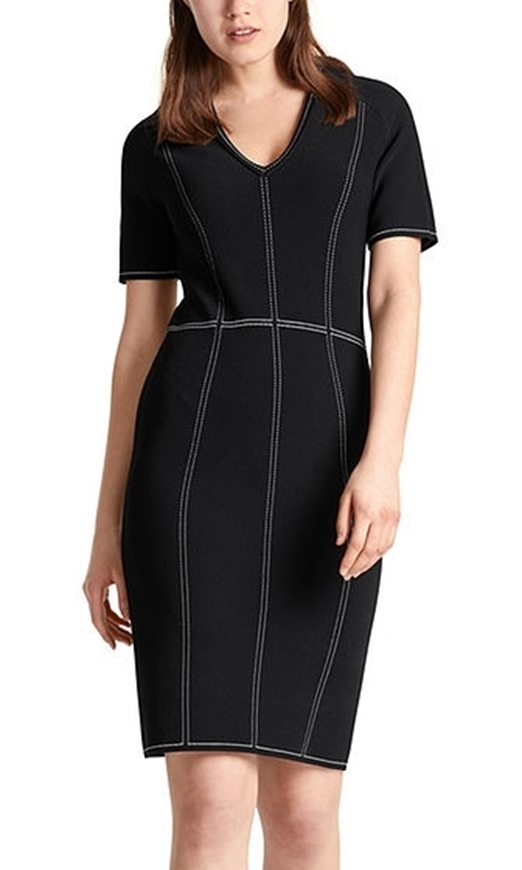 Picture of Marc Cain - Dress with Contrast Stitching