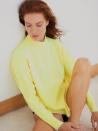 Picture of Aleger - Drop Shoulder Mohair Detail Sweater
