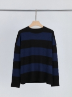 Picture of Aleger - Cashmere Blend Oversized Wide Sleeve Stripe