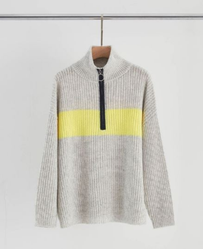 Picture of Aleger Cashmere- Zip Collar